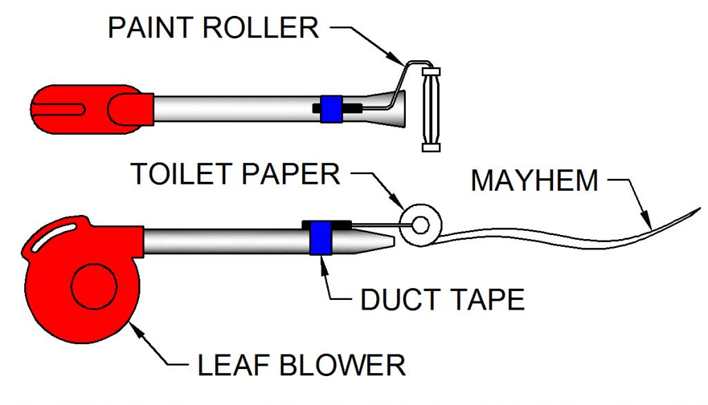 Toilet Paper Gun